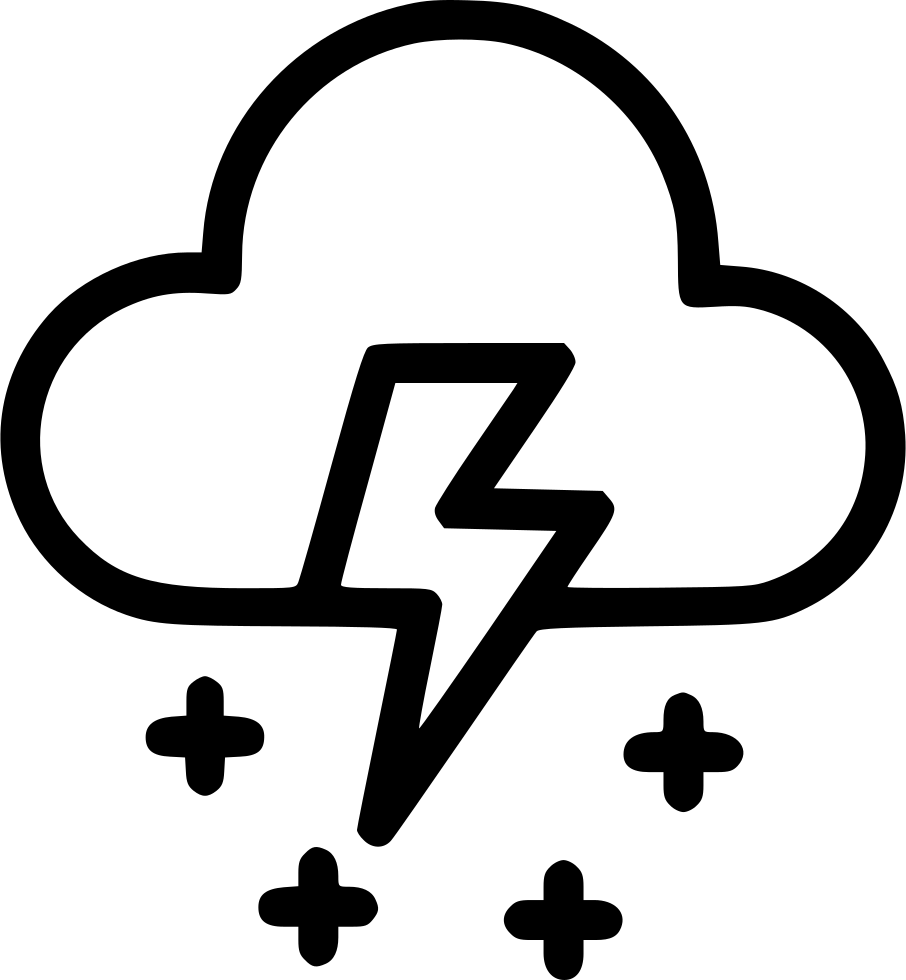 Weather thunder wind lightning. Cloudy clipart snow