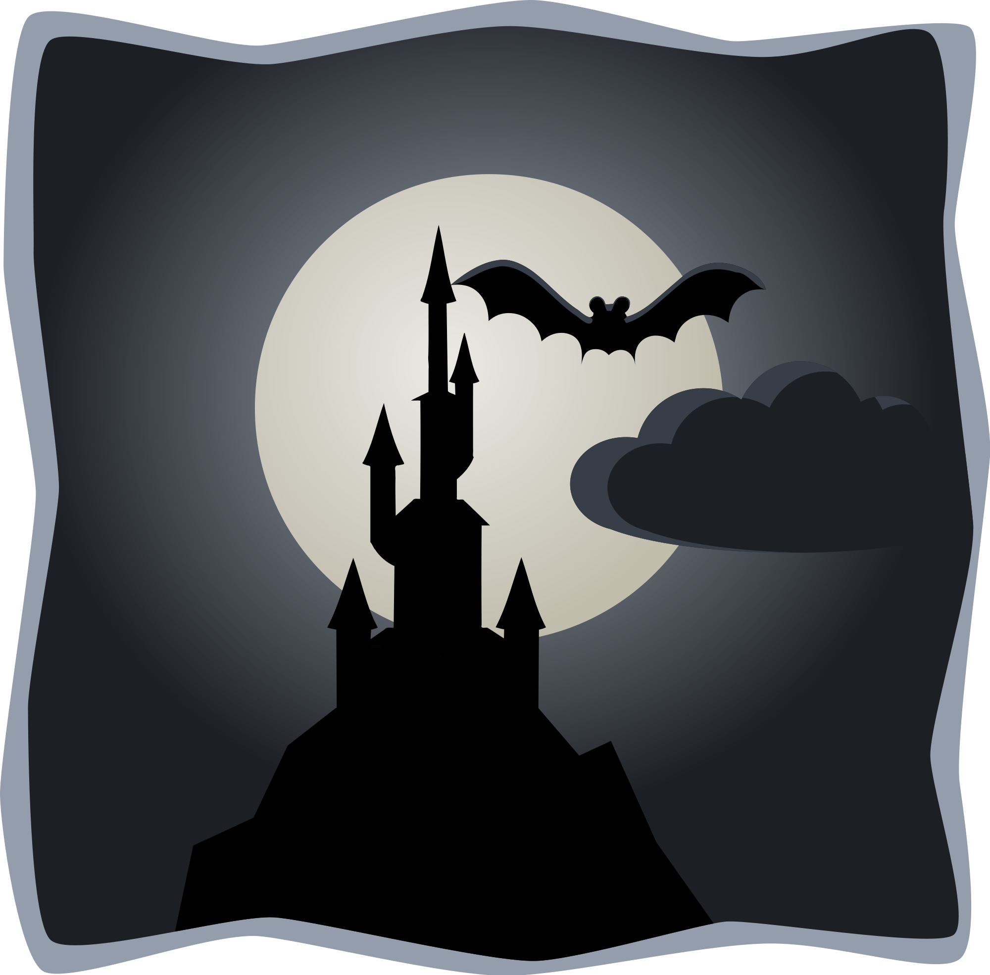 Pillow clipart svg. File spooky castle in