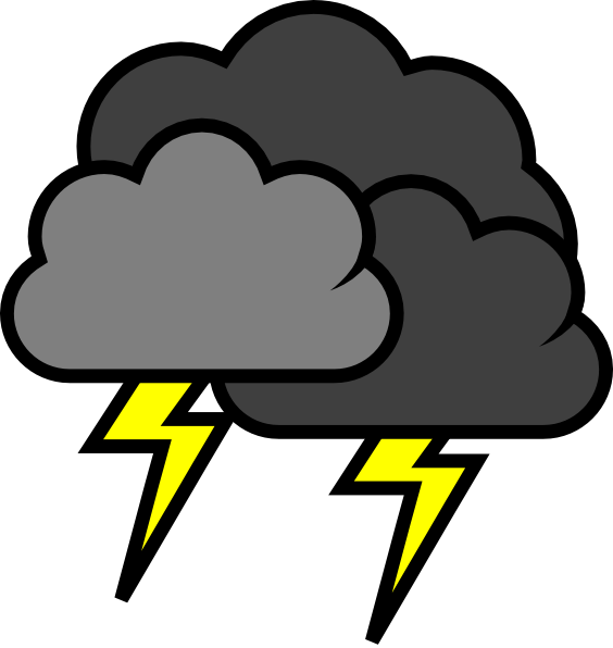 collection of stormy. Lightning clipart thundercloud