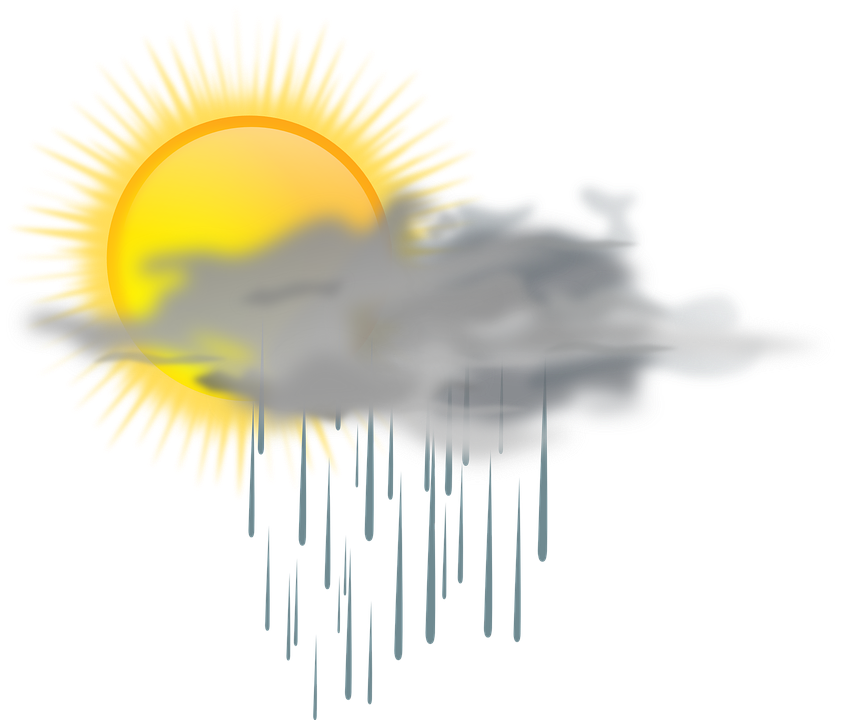 Rain and sun png. Windy clipart mixed weather