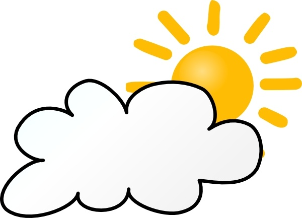 Sunny clipart windy. Cloudy weather clip art
