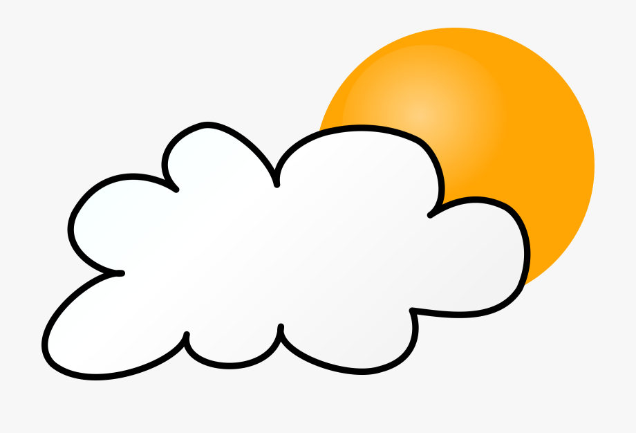 Day simple weather symbols. Cloudy clipart wather