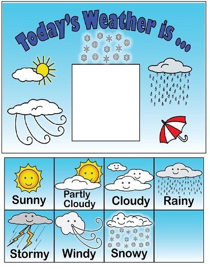 Observe and keep track. Windy clipart weather chart