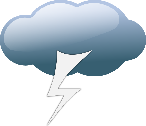Windy clipart stormy day. Thunderstorm weather symbols clip