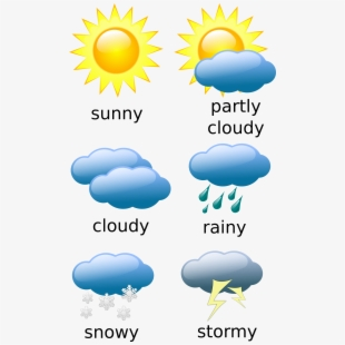 Symbols rain free cliparts. Cloudy clipart weather forecast