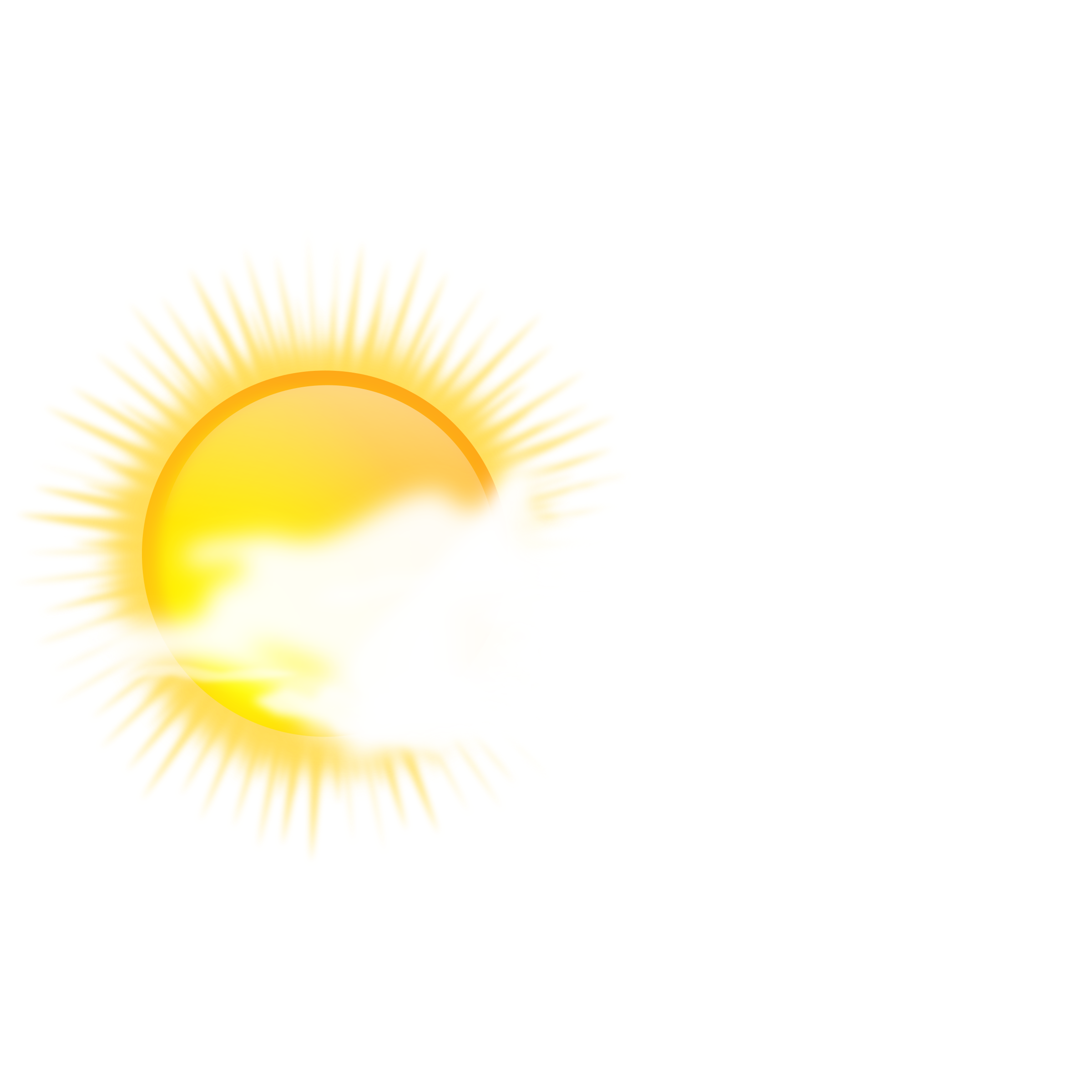 Icon to cloudy big. Sunny clipart weather nice