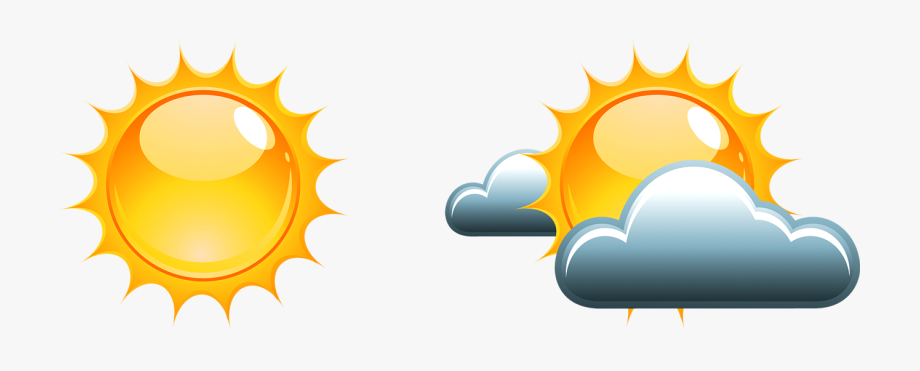 Cloudy clipart weather nice. Clip art black and