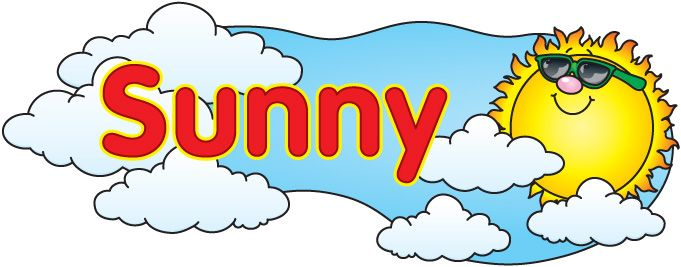 Cloudy clipart weather nice. Sunny clipartfest clip art