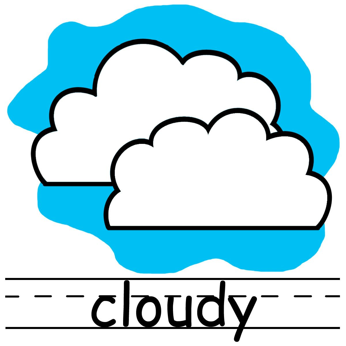 Cloudy clipart weather word. Pictures clip art icons
