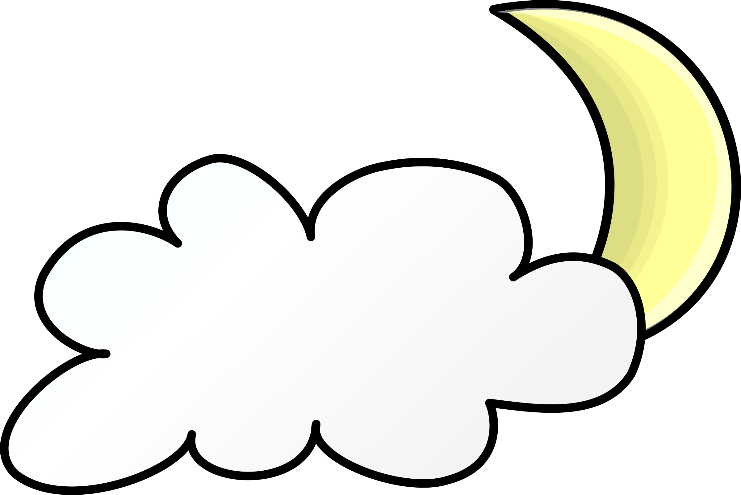 Night clipart transparent. Weather symbols cloudy big