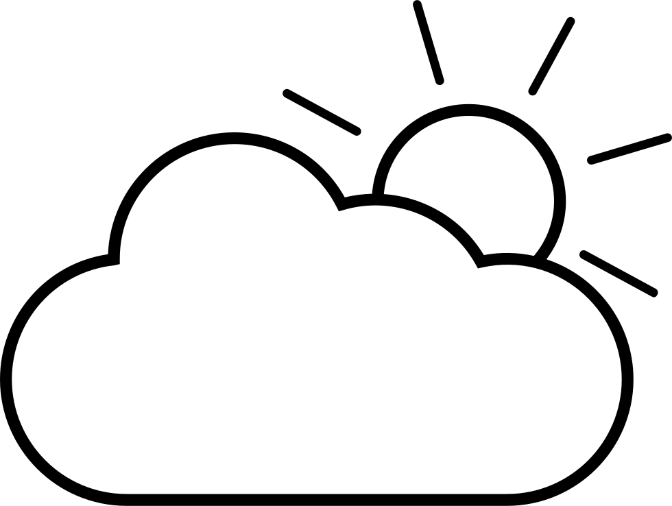 Cloudy clipart white thing. Svg png icon free