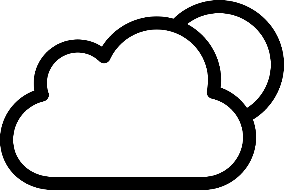 Night weather symbol of. Cloudy clipart white thing