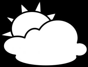 Publicdomainvectors org outline symbol. Cloudy clipart white thing