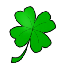 Four leaf panda free. Clover clipart