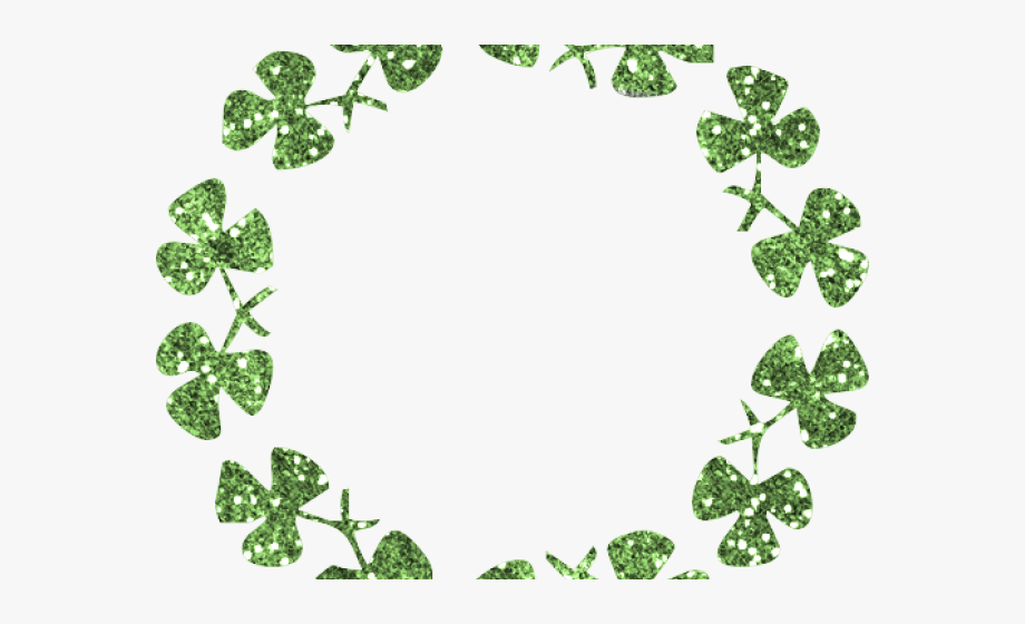 Clover clipart border. Transparent four leaf