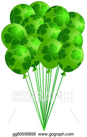 Drawing of irish green. Clover clipart bunch