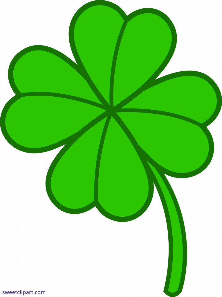Pictures of four leaf. Clover clipart bunch
