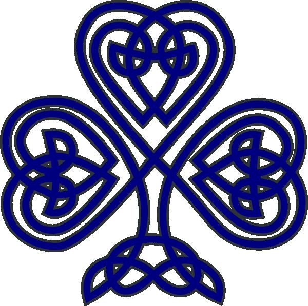 Navy clipart line. Celtic shamrock clip art