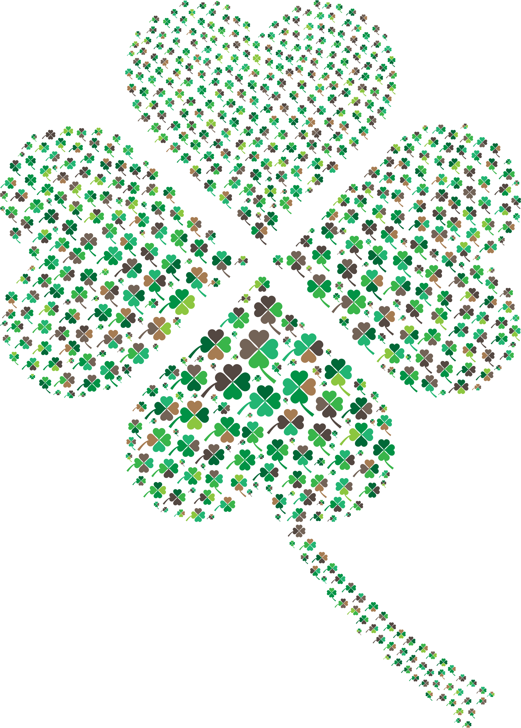 Clover clipart clover leaves. Green four leaf fractal