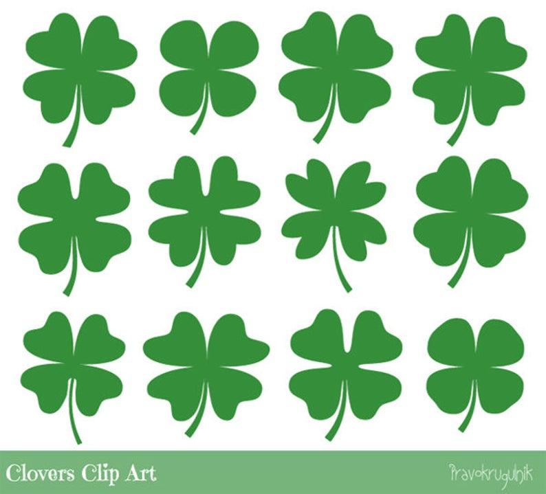 Green four leaf cute. Clover clipart clover leaves
