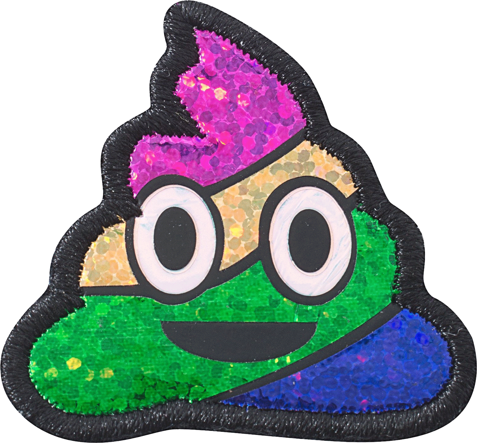 Glitter clipart rainbow. Puffy poop patch stoney