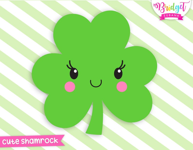 St patrick s day. Clover clipart cute