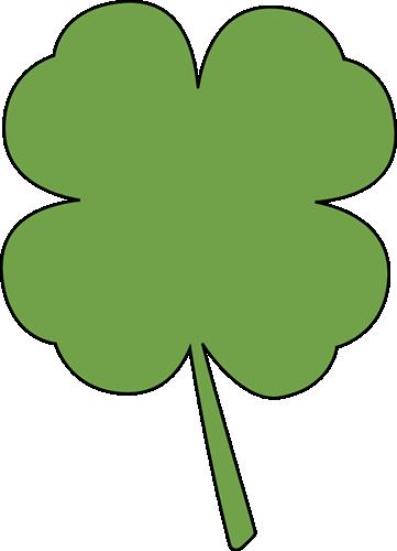 Four leaf clip art. Clover clipart cute