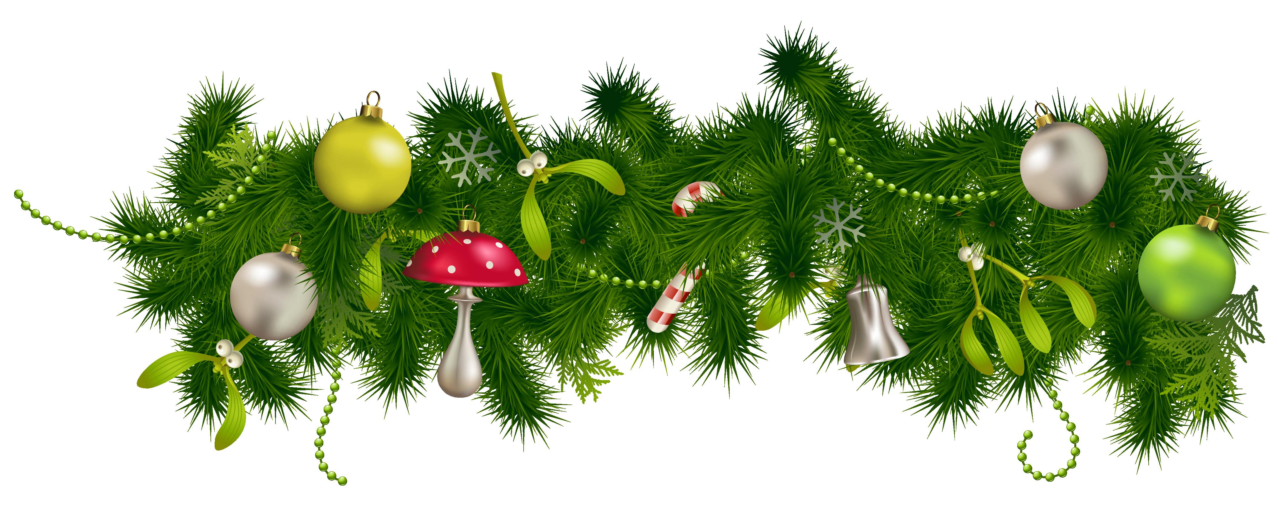 ornament clipart huge. Christmas garland border png