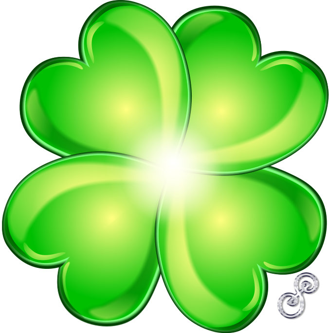 Clover clipart glitter. Free a picture of