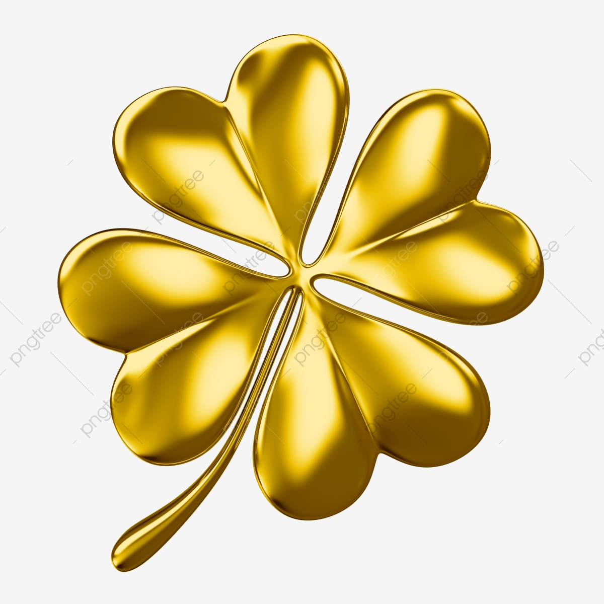 Clover clipart gold clover. Four leaf luxury png