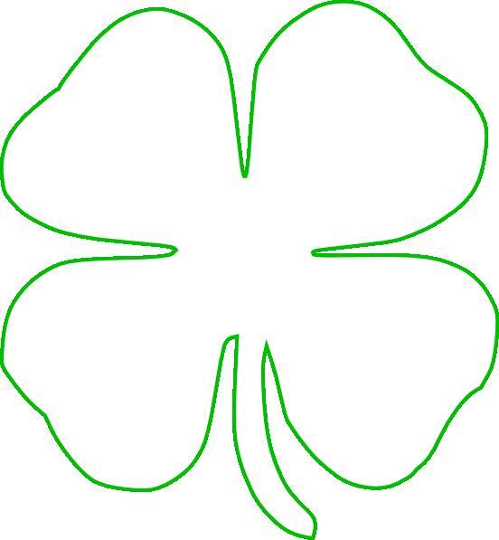 Clover clipart green. Free shamrock outline download