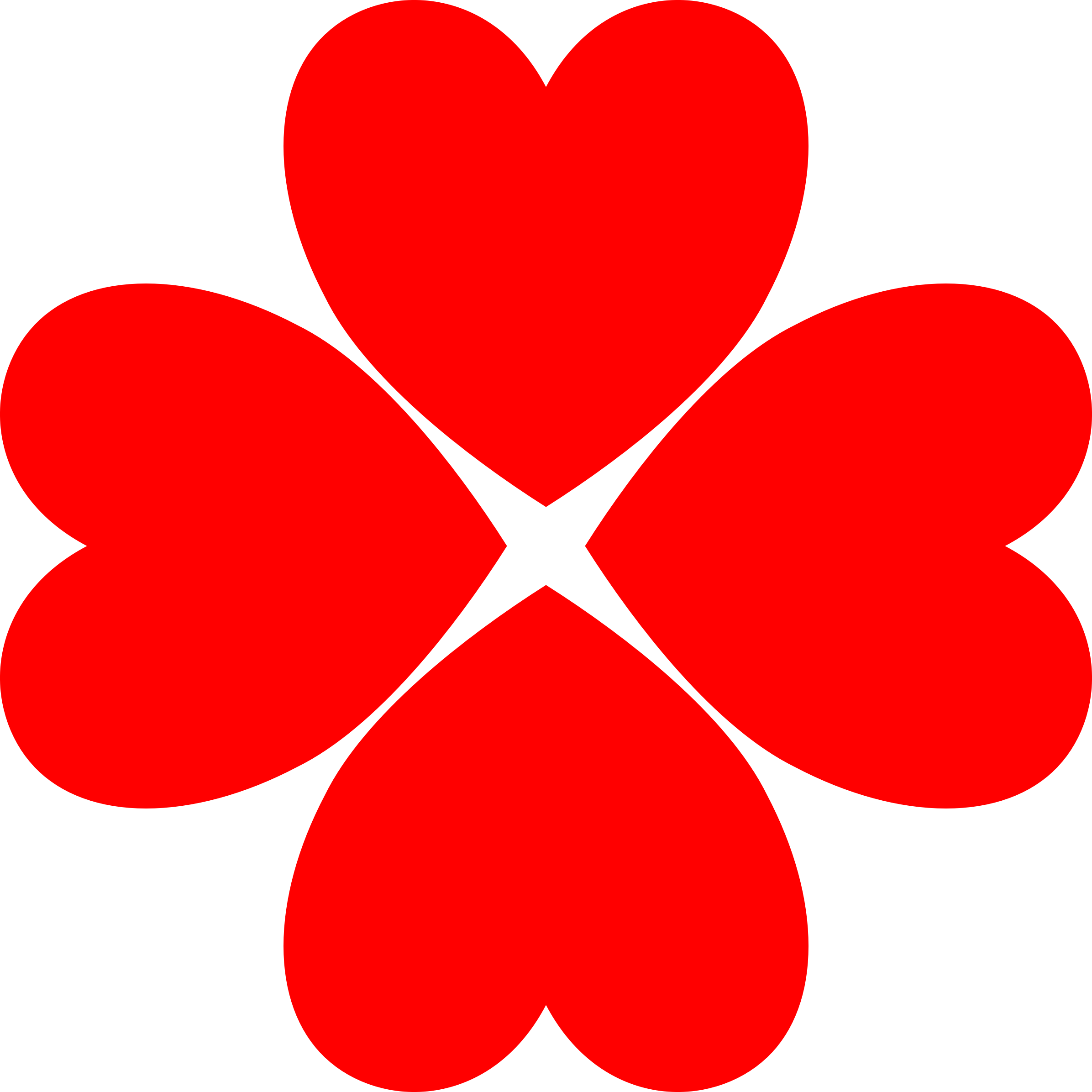 Four heart clover big. Hearts clipart medical