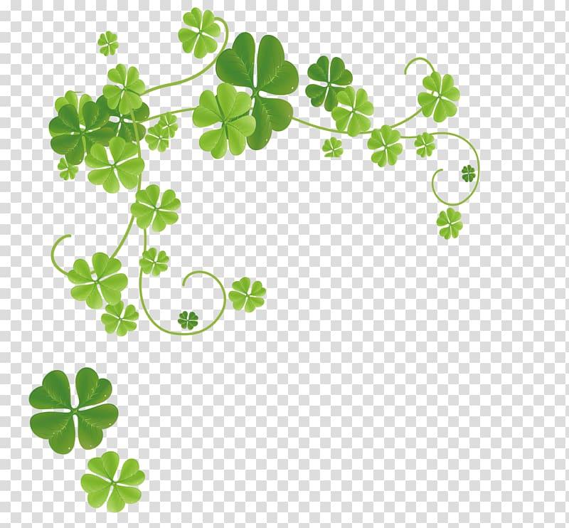 Green leaf illustration four. Clover clipart ivy