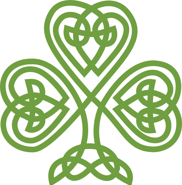 Celtic knot shamrock pencil. Clover clipart jpeg