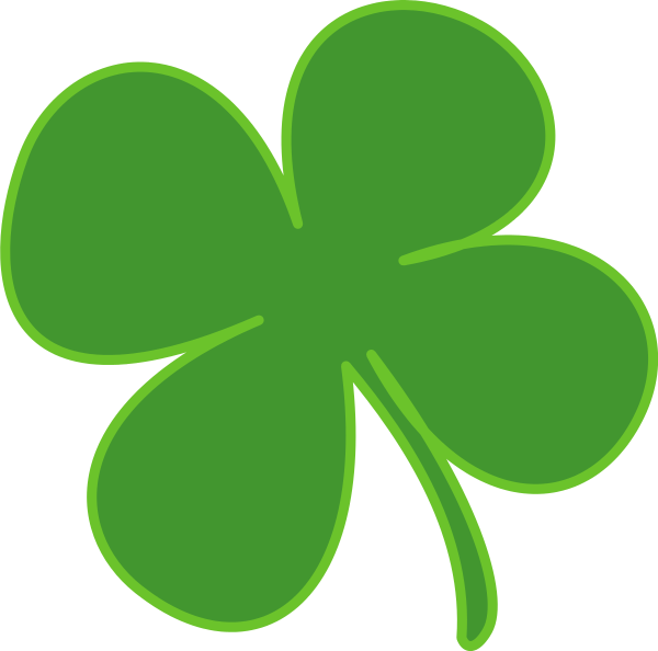Shamrock symbol holiday saint. Clover clipart jpeg