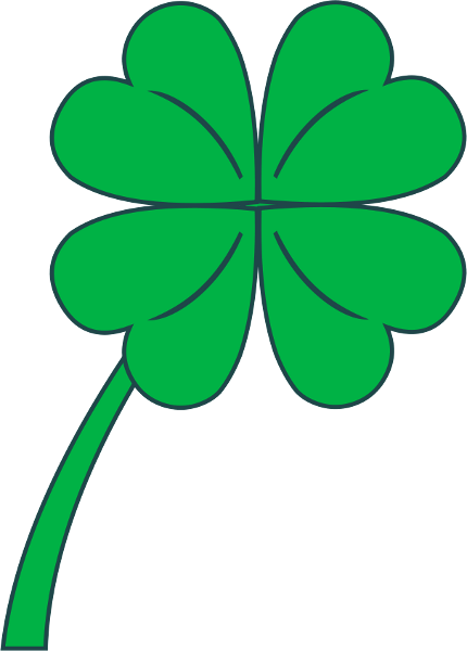 Clover clipart lead. Free pictures of four