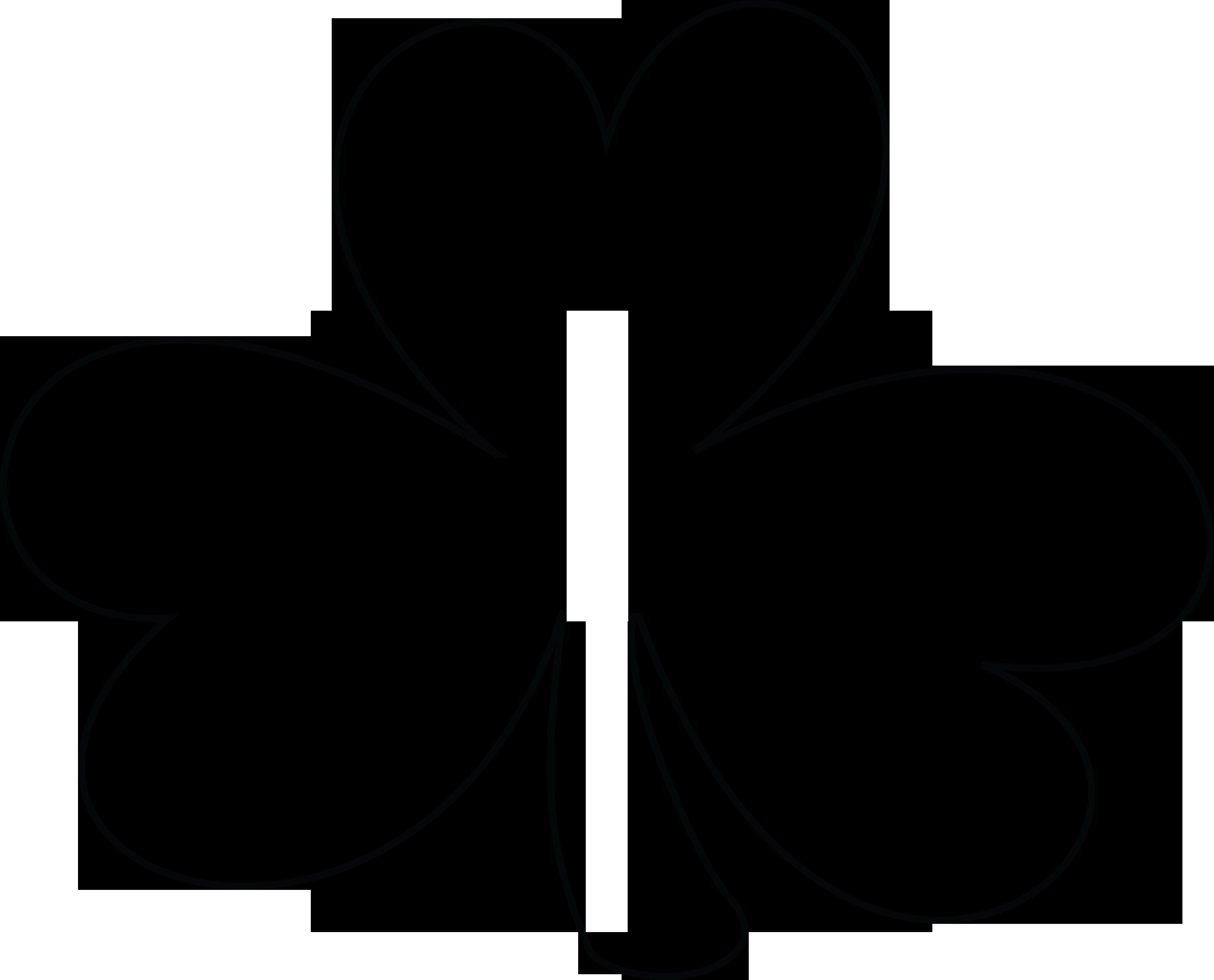 Outline clover