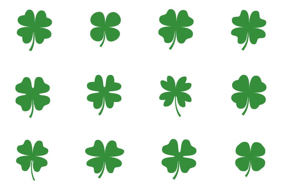 Clover clipart lucky. Cute green four leaf