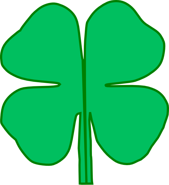 leaf divided in. Clover clipart march birthday
