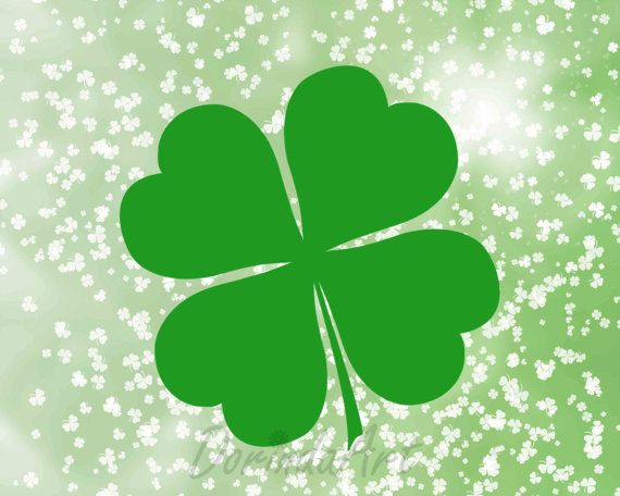 Clover clipart printable. St patrick s day