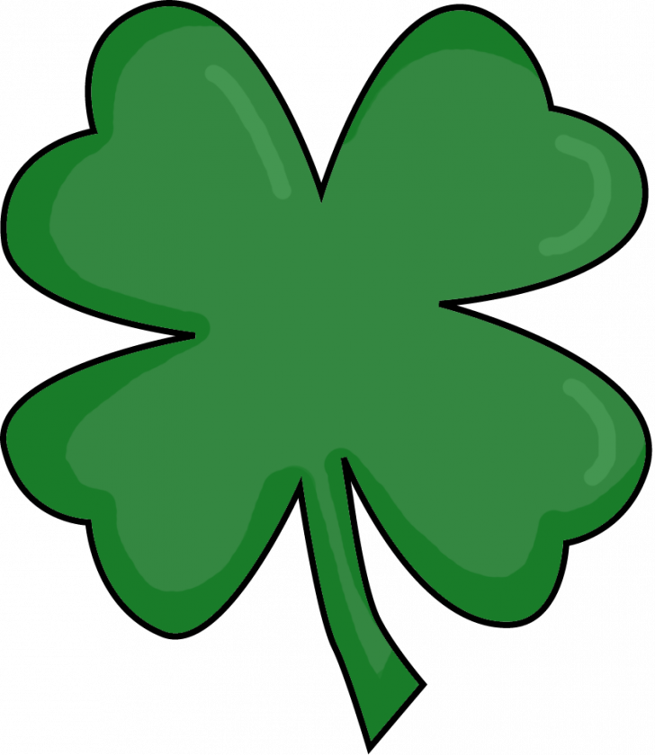 Fun facts about four. Clover clipart printable