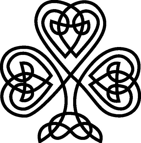Celtic shamrock clip art. Clover clipart simple