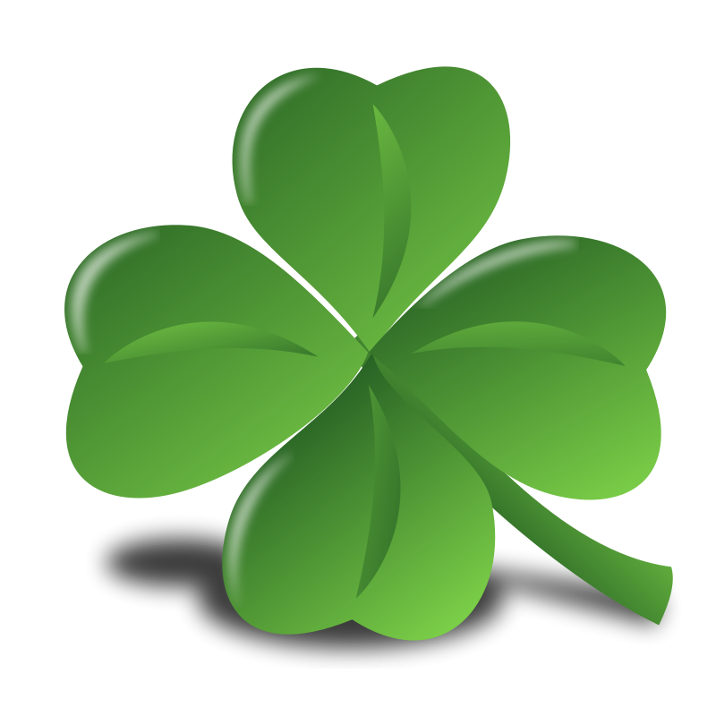 St patrick s day. Clover clipart simple