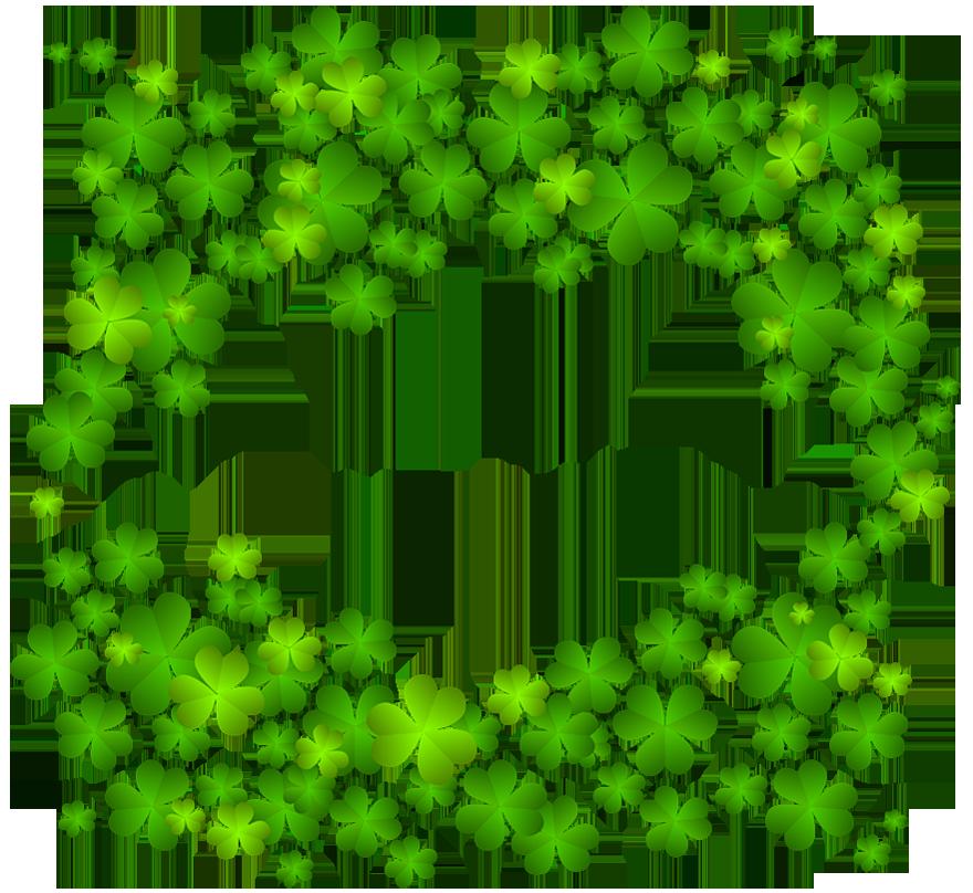 Irish shamrock decor png. Leaf clipart kid