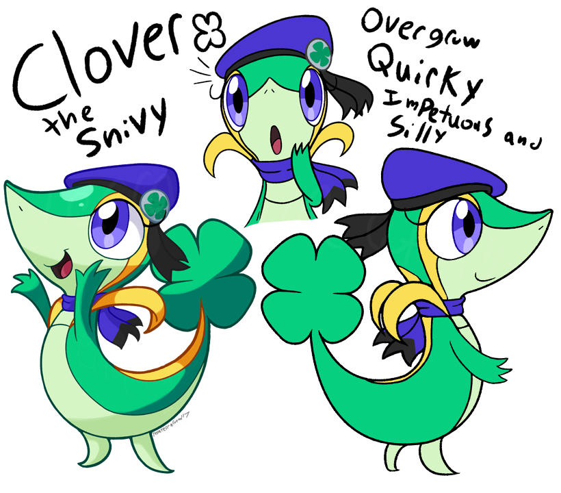 Clover clipart vine. The snivy ref by