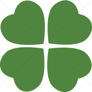 Heart st patrick s. Clover clipart