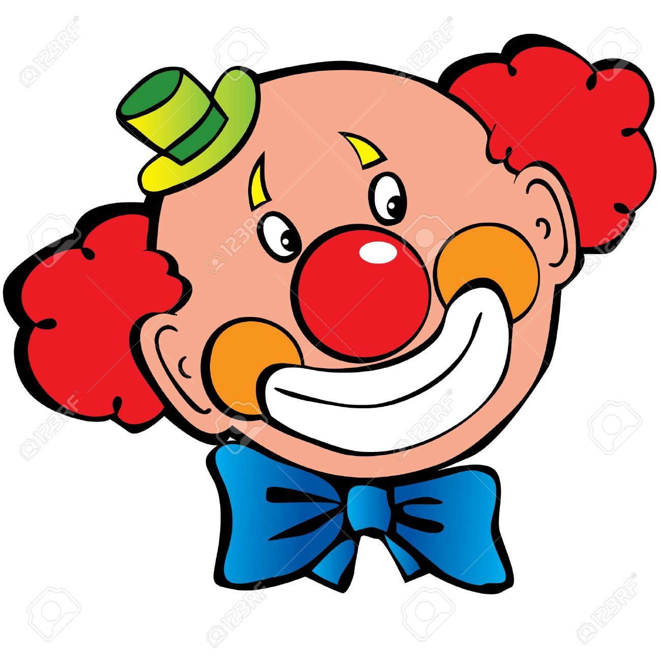 Clown clipart. Image of face free