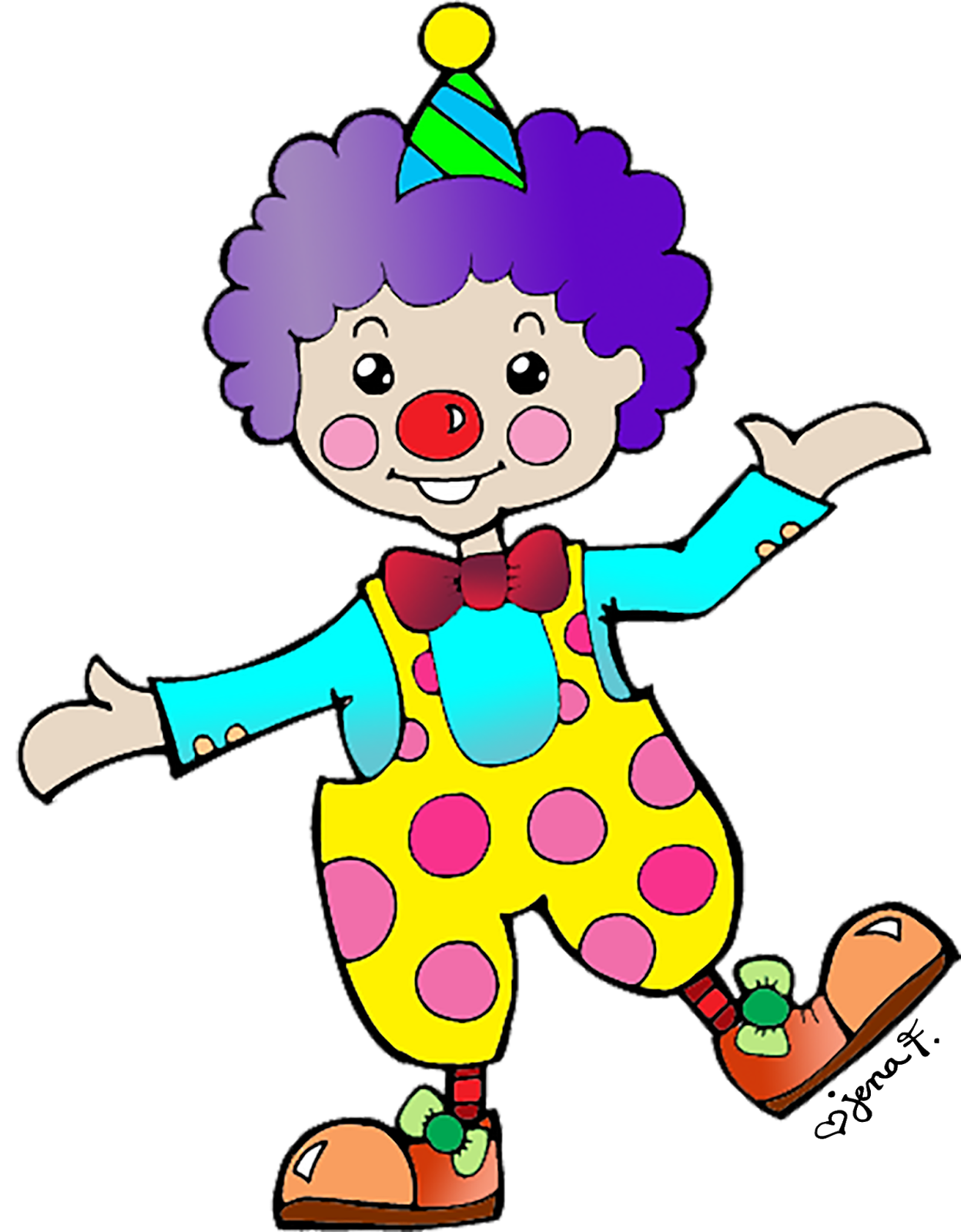 . Happy clipart clown