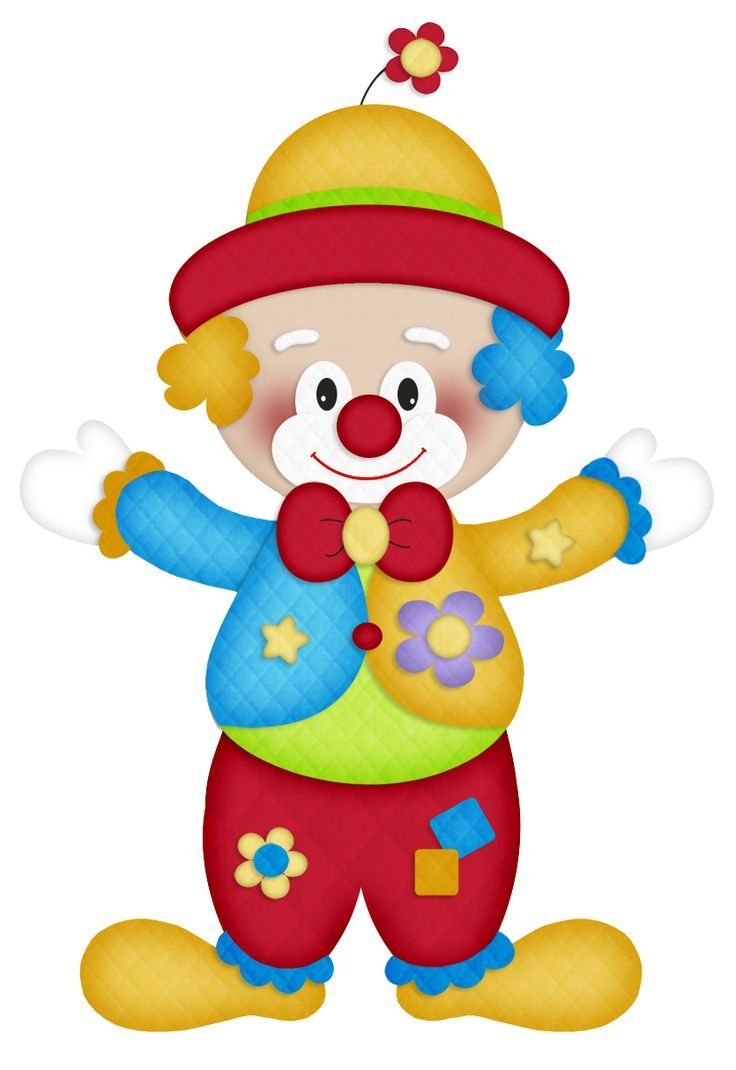 Clown clipart. Happy clip art circus