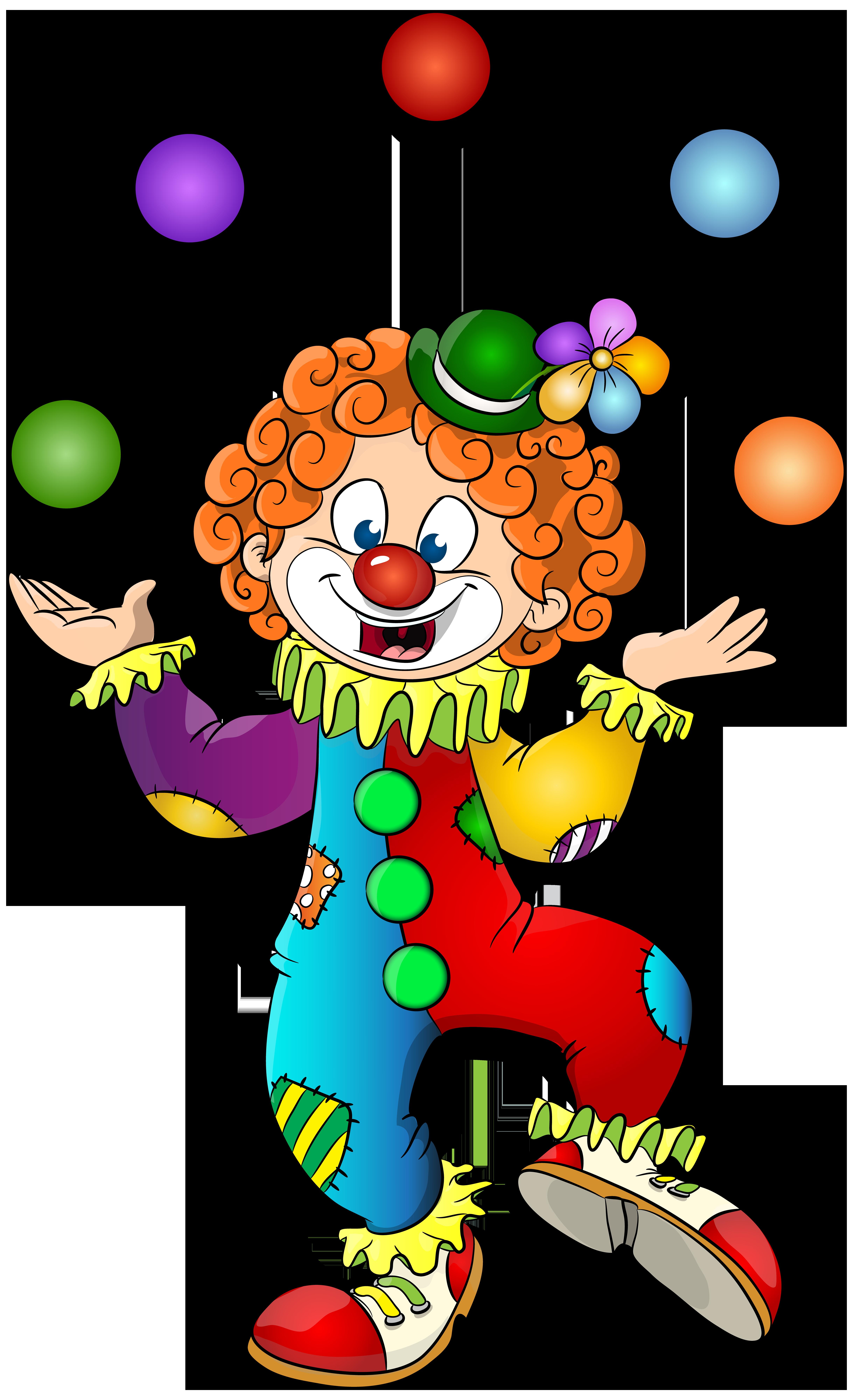 Clown clipart. Transparent clip art image